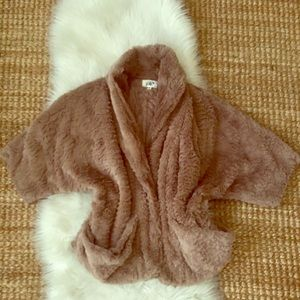 Faux Fur Shrug Jacket Medium
